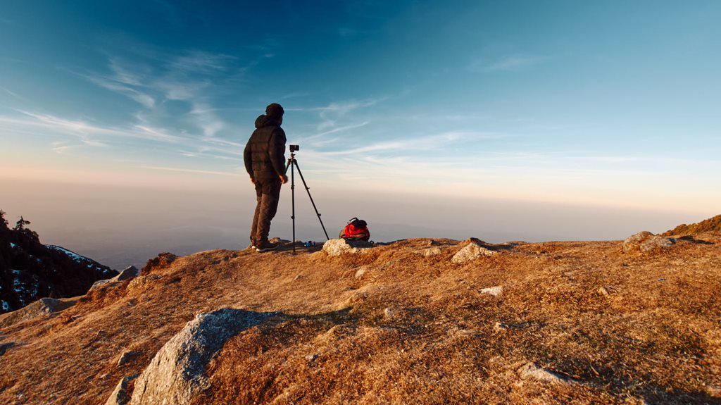 Early morning photography at Triund